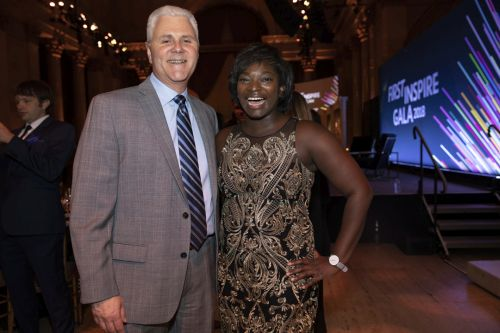 Melissa Smith with FIRST President Don Bossi at FIRST Inspire Gala