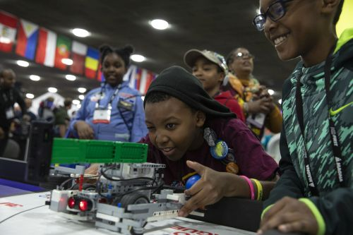 FIRST LEGO League students compete at <em>FIRST</em> Championship in Detroit.