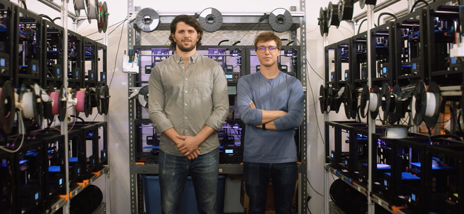 FIRST Alumni Jonathan Schwartz and Max Friefeld at their company, Voodoo Manufacturing, in Brooklyn, N.Y.