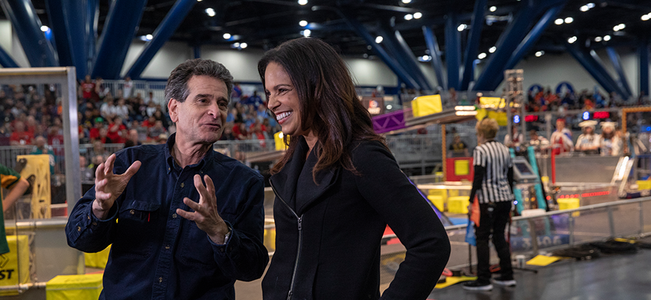 Soledad O'Brien and Dean Kamen at the 2018 FIRST Championship