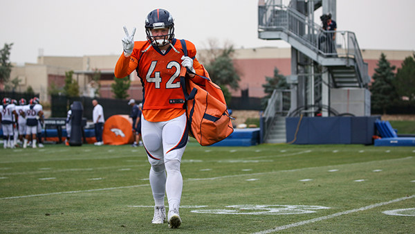 Long snapper Casey Kreiter on the field. (Courtesy the Denver Broncos)