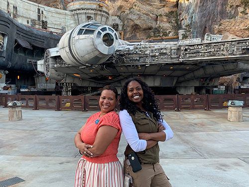 D'Yanna Craighead and Angel Price at Star Wars Galaxy's Edge