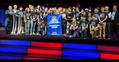 2018 FIRST Championship Detroit Chairman's Award Winner FIRST Robotics Competition