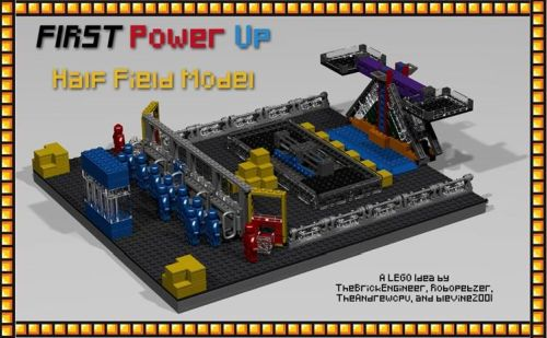FIRST Power Up Lego Half Field Model