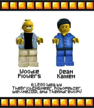 Woodie Flowers and Dean Kamen Lego Mini Figurines