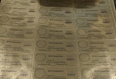 FIRST Championship Inspection Stickers