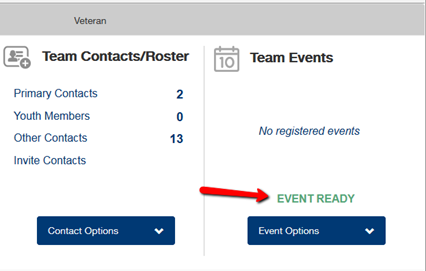 Event Ready Designation Team Registration System FIRST Robotics Competition