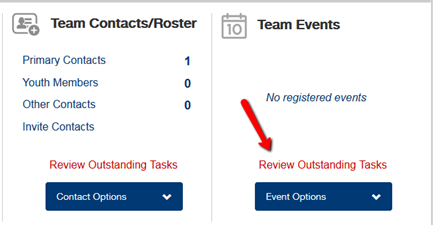 Not Event Ready Designation Team Registration System FIRST Robotics Comepetition