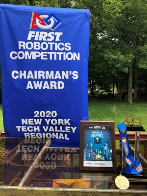 Chairman's Award Banner Trophy Medal FIRST Robotics Competition Team 3044