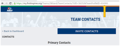How To Find your FIRST Robotics Competition Team Registration ID