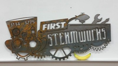 FIRST Steamworks logo Team 3134 3275 CNC Creation