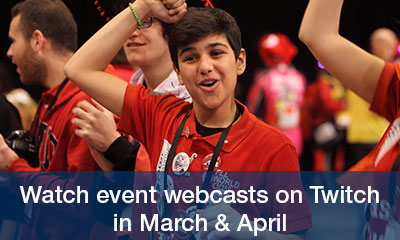 Watch event webcasts on Twitch