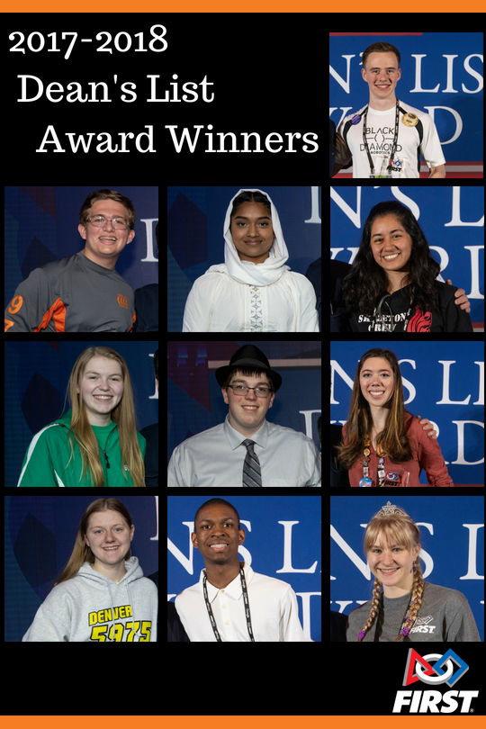 FIRST Tech Challenge 2017 Dean's List Students