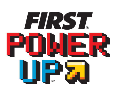 2018 FIRST POWER UP Game Logo
