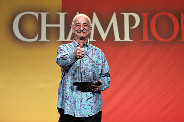 Woodie Flowers giving thumbs up