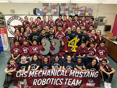 The Mechanical Mustangs are a FIRST Robotics Competition team from Clifton High School.