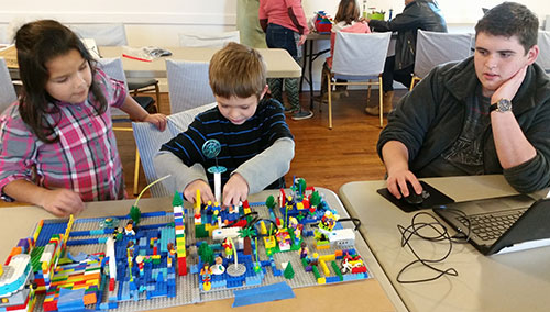 <em>FIRST</em> LEGO League Jr. students build and program their model in McLoud, Oklahoma.