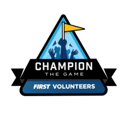 FIRST volunteers Champion the Game logo