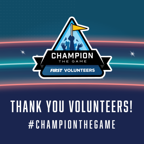 Thank you FIRST Volunteers logo